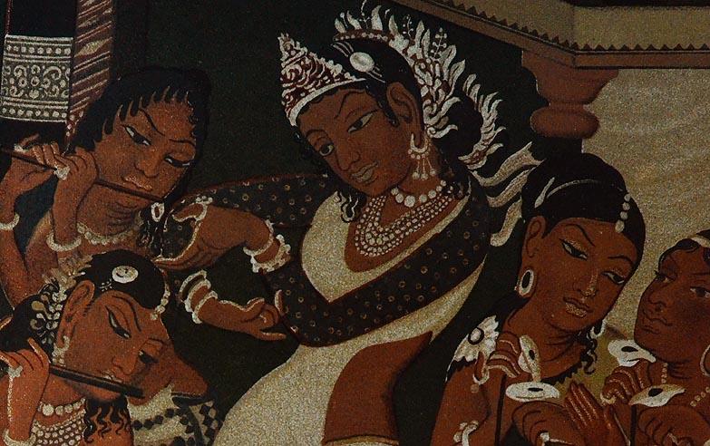 Ajanta painting bandhani work